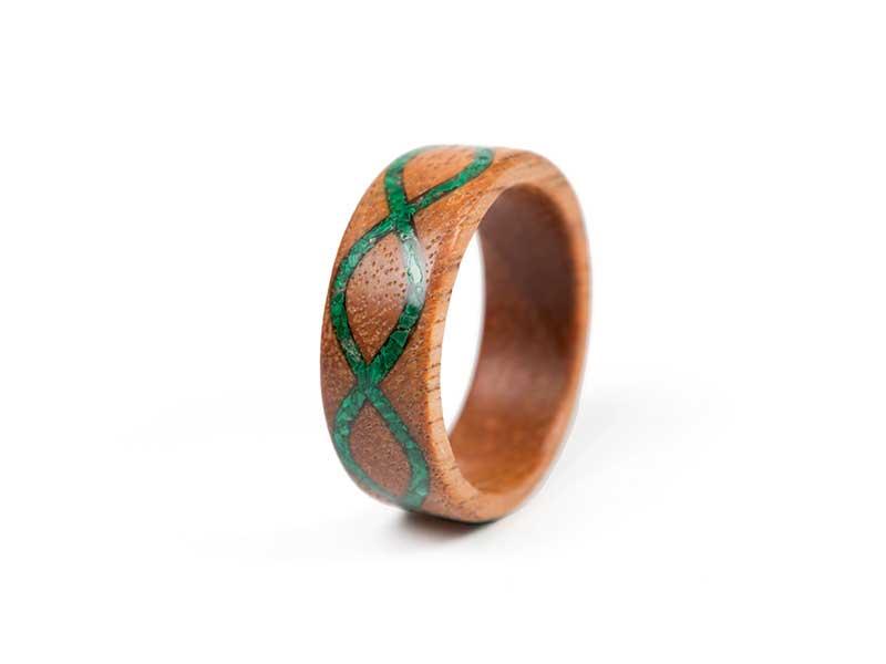 Inel din lemn Infinity