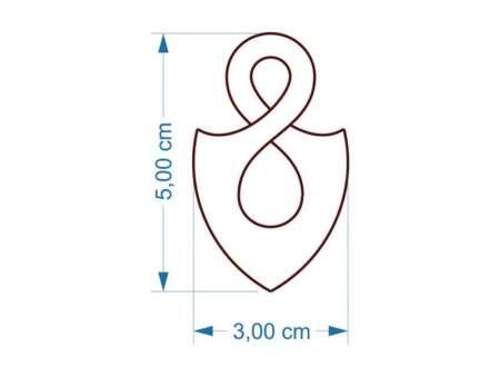 Pandantiv Infinity dimensiuni